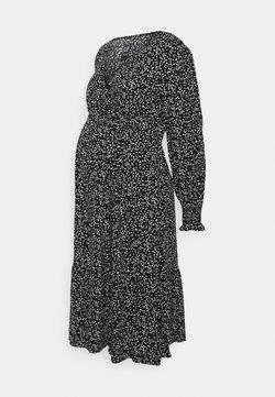 GAP Maternity - CROSSOVER MIDI MATERNITY - Jersey dress - black floral