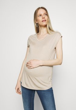 ONLY - OLMWILMA  - T-Shirt print - humus/cloud dancer