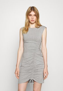 DKNY - CAP SLEEVE SIDE RUCHED SKIRT WITH DRAW STRING - Cocktail dress / Party dress - heather grey