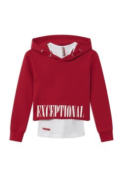 Blue Effect - GIRLS BOXY HOODIE EXCEPTIONAL 2-IN-1 - Kapuzenpullover - granatrot reactive