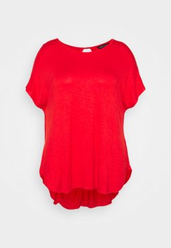 CAPSULE by Simply Be - TWIST BACK DETAIL - T-Shirt basic - bright red