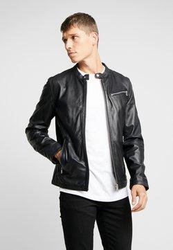 Freaky Nation - NEW DAVIS - Leather jacket - black/navy