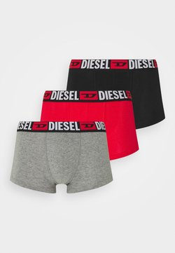 Diesel - DAMIEN 3 PACK - Panties - black/grey/red