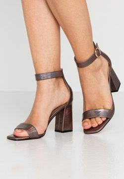 ONLY SHOES - ONLALYX - Sandalen met hoge hak - gunmetal