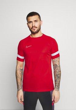 Nike Performance - ACADEMY 21 - T-Shirt print - university red/white