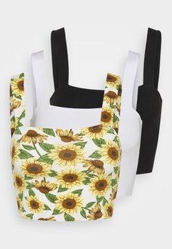 Monki - MADDY SINGLET 3 PACK - Top - black dark/sunflower/white