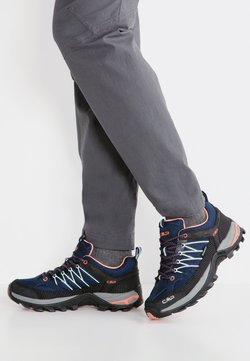 CMP - RIGEL LOW TREKKING SHOE WP - Hikingschuh - blue/giada/peach