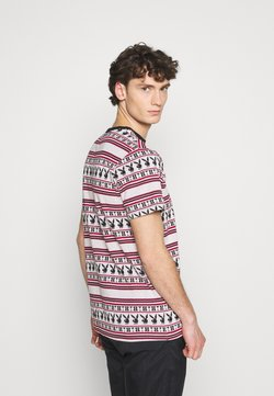 HUF - PLAYBOY STRIPE - T-shirt con stampa - burgundy