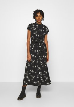 Vero Moda - VMFALLIE LONG TIE DRESS - Vestido camisero - black