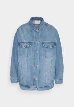 Simply Be - OVERSIZED EX BOYFRIEND JACKET  - Manteau court - blue vintage/bleach