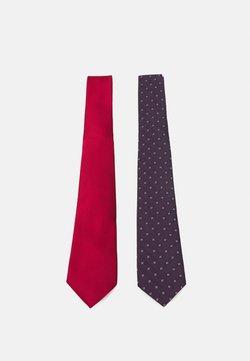 Only & Sons - ONSTRAVIS PATTERN TIE 2 PACK - Krawatte - dark navy/plain bordeaux