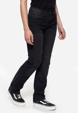Queen Kerosin - MOTOR GEAR - Jeans Straight Leg - schwarz