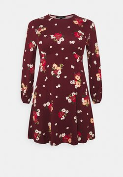 Simply Be - ALINE TEA DRESS - Vestido ligero - dark red