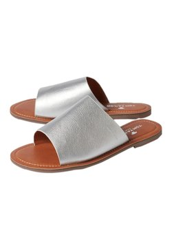 TOM TAILOR - METALLIC-OPTIK - Chaussons - silver