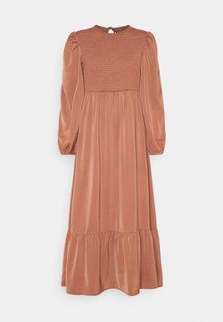 Fashion Union - FLOWERBED DRESS - Vestido largo - burnt brick