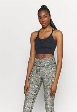 Nike Performance - DRY LACING LUX - Sports shirt - black