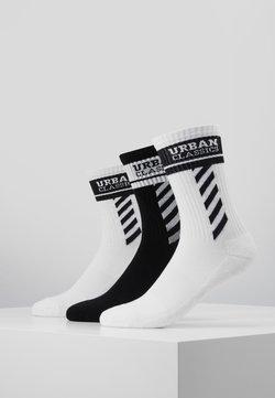 Urban Classics - SPORTY LOGO SOCKS 3 PACK - Socken - white/black