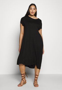 Even&Odd Curvy - BASIC JERSEY DRESS - Jerseyjurk - black
