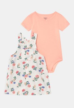 Carter's - SHORTALL FLOR SET - T-Shirt basic - white/light pink