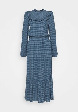 New Look Tall - CHECK GINGHAM FRILL DRESS - Day dress - blue