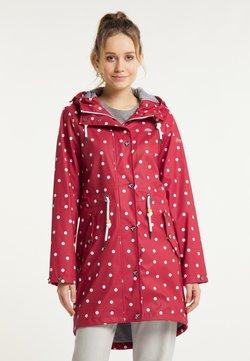 Schmuddelwedda - Regenjacke / wasserabweisende Jacke - rot dots aop