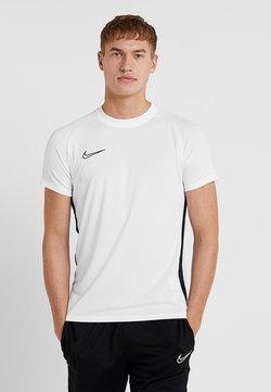 Nike Performance - DRY ACADEMY - T-Shirt print - white/black