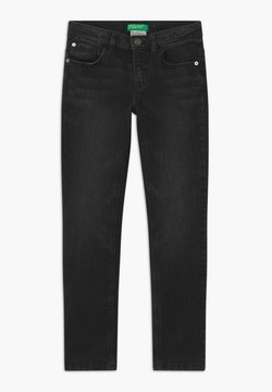 Benetton - BASIC BOY - Slim fit jeans - black denim