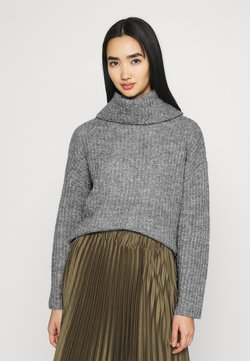 Even&Odd - ROLL NECK JUMPER - Stickad tröja - mottled grey
