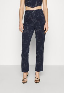 Missguided - TIE DYE WRATH - Straight leg jeans - navy