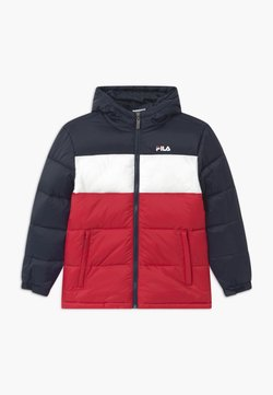Fila - BROOKLYN PUFFER UNISEX - Talvitakki - black iris/true red/bright white