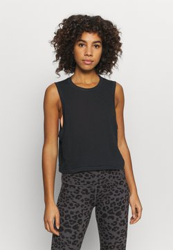 Cotton On Body - ALL THINGS FABULOUS CROPPED MUSCLE TANK - Top - black