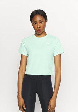 The North Face - FOUNDATION CROP TEE - T-Shirt basic - misty jade heather