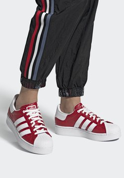 adidas Originals - SUPERSTAR BOLD - Sneakers - scarlet/core black/footwear white