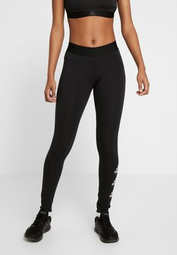 adidas Performance - ESSENTIALS SPORT INSPIRED COTTON LEGGINGS - Legginsy - black/white