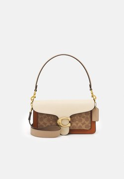Coach - SIGNATURE TABBY SHOULDER BAG - Handbag - tan/ivory