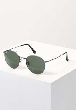 Ray-Ban - 0RB3447 ROUND METAL - Solbriller - gunmetal/crystal green
