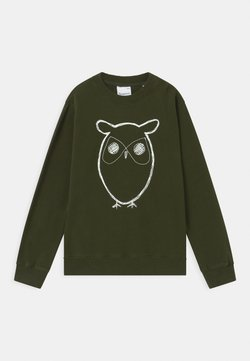 KnowledgeCotton Apparel - LOTUS OWL - Sweater - forrest night