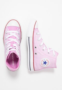 Converse - CHUCK TAYLOR ALL STAR PINSTRIPE - Sneakers high - peony pink/garnet/white