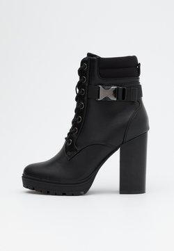 ONLY SHOES - ONLTAYA BUCKLE BOOT - High Heel Stiefelette - black
