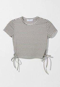 Bershka - MIT SCHNÜRUNG - T-Shirt print - black