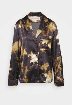 Alexa Chung - PYJAMA - Nachtwäsche Shirt - black/brown