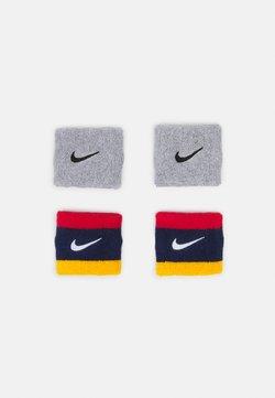 Nike Performance - WRISTBANDS 4 PACK UNISEX - Svettebånd - midnight navy/university red/university gold/white/grey