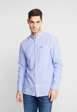 Original Penguin - COLLARLESS OXFORD SHIRT - Camisa - amparo blue