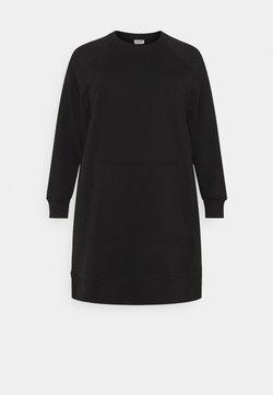 Noisy May Curve - NMLUPA KANGAROO DRESS - Vapaa-ajan mekko - black