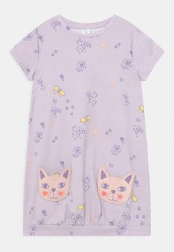 Lindex - MINI CAT POCKETS - Jerseykleid - light lilac