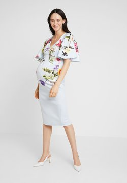 True Violet Maternity - BATWING MIDI BODYCON - Etui-jurk - blue border floral