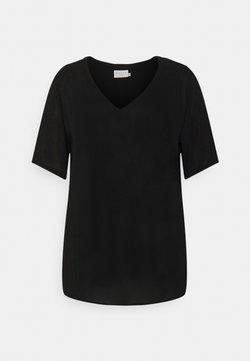 Kaffe Curve - AMI BLOUSE - T-Shirt basic - black deep