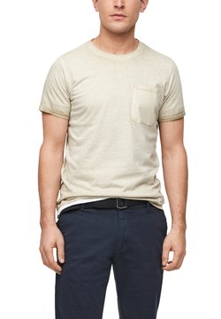 Q/S designed by - T-Shirt print - beige