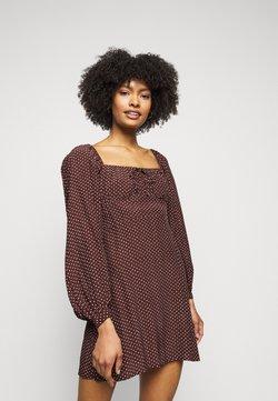 Faithfull the brand - SHANNALI MINI DRESS - Freizeitkleid - bonnie dot print