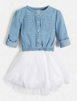 Guess - Jeanskleid - mehrfarbig, grundton blau